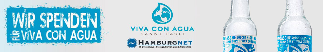 Hamburgnet now supports Viva con Agua